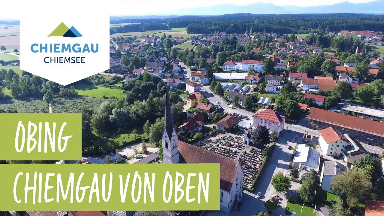 Obing Chiemsee-Chiemgau Drohnenaufnahme