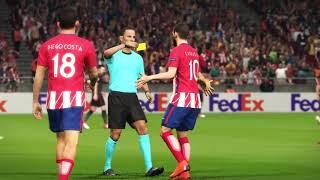 UEFA Europa League | Atletico Madrid - Arsenal | PES 2018 | Highlights