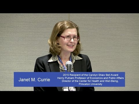 Talk by 2015 Bell Award Winner Janet M. Currie, Princeton University