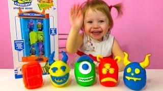 Университет монстров распаковка сюрпризов и игрушек Игра со слизью Киндер сюрприз