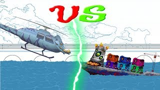 Scary VS Scary   Evil Police Helicopter   Scary Container Ship