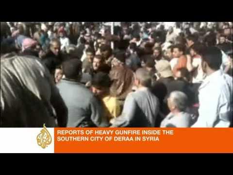 Syria Update: 'Renewed gunfire' in Deraa