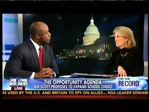 Senator Tim Scott talks with Greta on Fox on Improving Education for Kids through his CHOICE Act