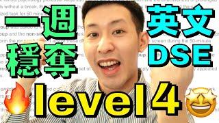 DSE 英文: 教你四招穩奪 Level 4 (一週輕鬆溫書計劃????)