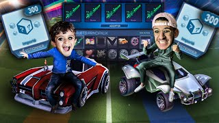 MON PETIT FRERE M'OUVRE 650 EUROS DE TRADE-UP ROCKET LEAGUE ! DOMINUS OU OCTANE BLANC TITANE ?!