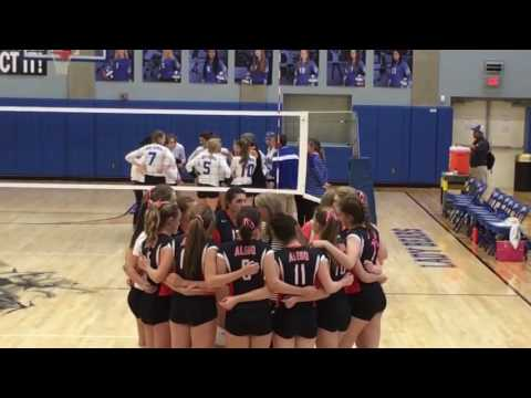 Aledo at Brewer Volleyball Highlights 9 27 2016