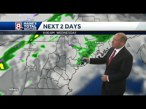 Winds ease overnight with just a few clouds