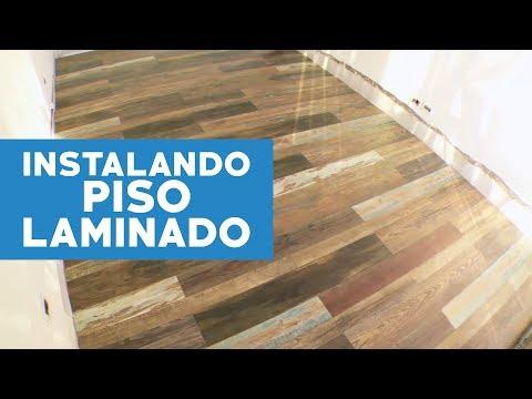 ¿Cómo instalar un piso laminado con terminación vintage?