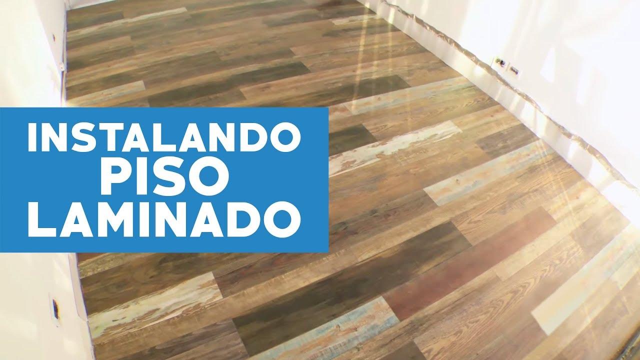 C mo instalar un piso laminado con terminaci n vintage - Como poner un suelo laminado ...