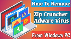 Zip Cruncher Adware Removal Report (Virus Removal Guide)