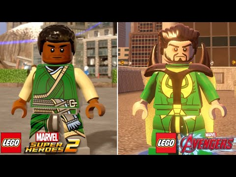 LEGO Marvel Super Heroes 2 vs LEGO Marvel's Avengers Characters (Side by Side Comparison) Part 4