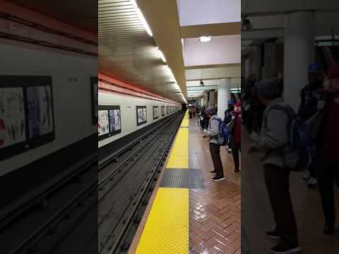 BART Arriving at Powell Street Station in San Francisco