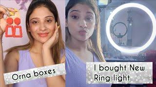 buhat sari batein || Is bar orna box me kya mila || New ring light  li hai