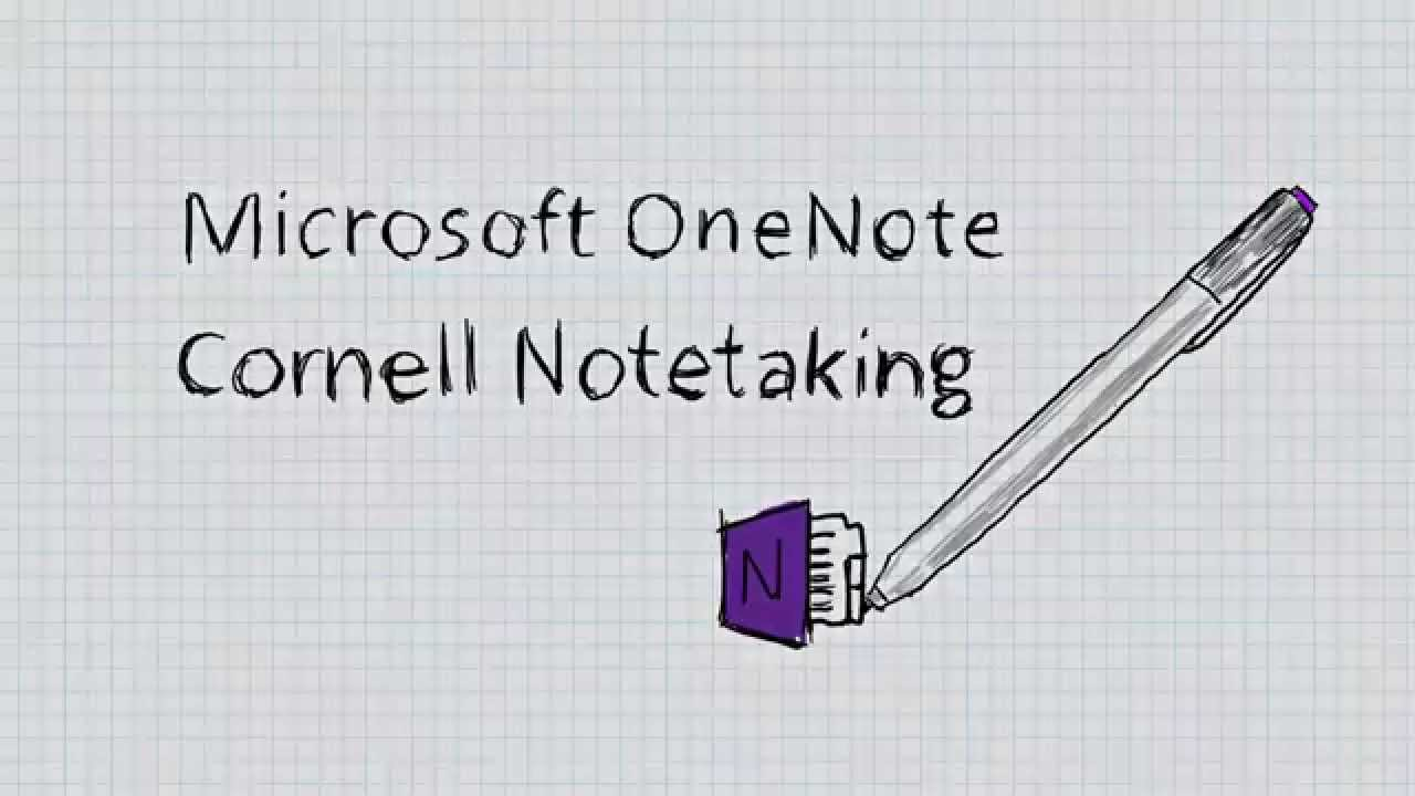 Microsoft OneNote - Cornell Note taking for students - YouTube