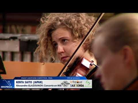 Kenta Saito (Japan) - Concerto en Mi Bémol by Alexandre Glazounov (Dinant 2019)