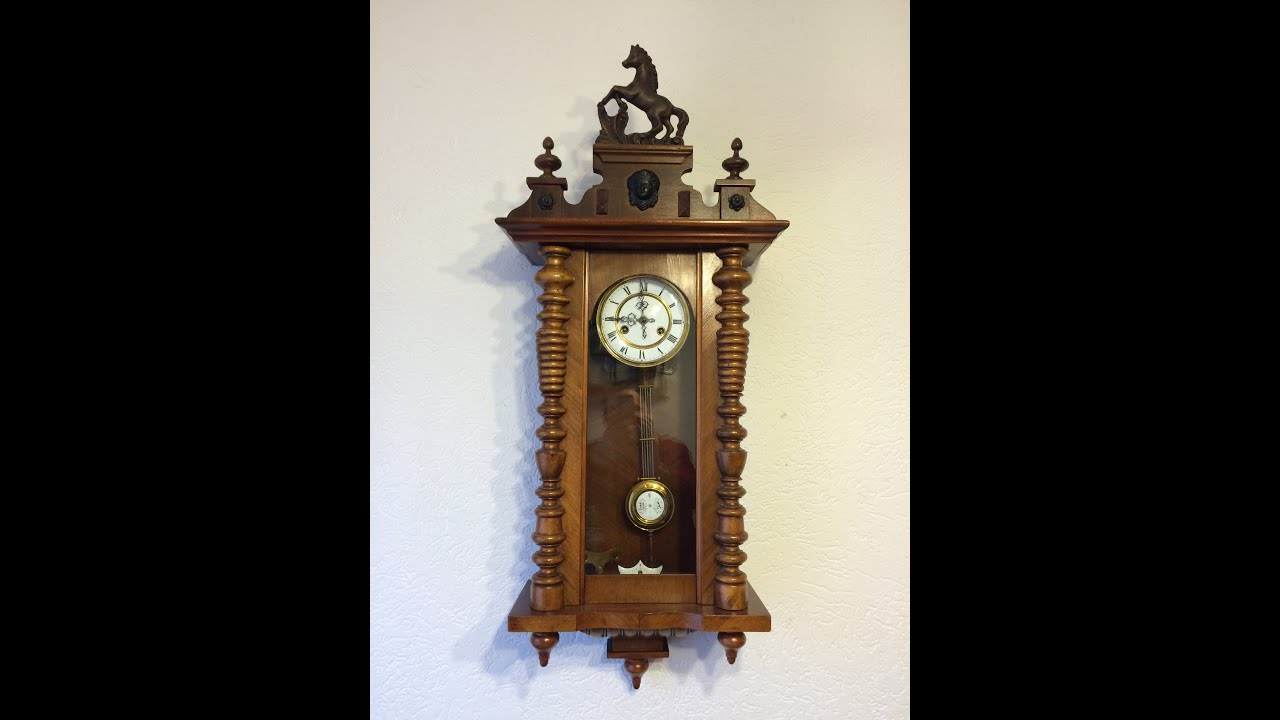 Antique wall clock made by german manufacturer from 1900s by antique wall clock made by german manufacturer from 1900s by din973 e24 youtube amipublicfo Images