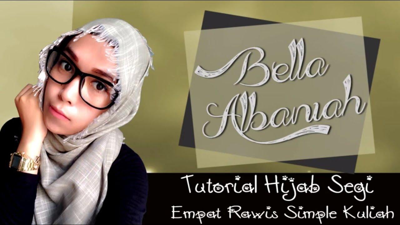 Tutorial Hijab Segi Empat Rawis Kuliah Terbaru 2016 YouTube