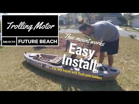 Installing a trolling motor mount on my Future Beach Angler 144 kayak