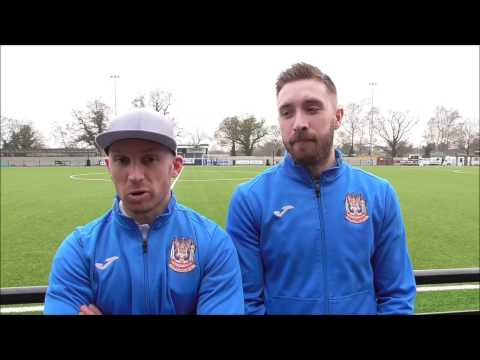 Scorers David Foley and Andrew Stephenson on win at Coleshill
