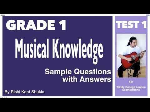 Grade 1- Musical Knowledge Questions with Answers - Test 1