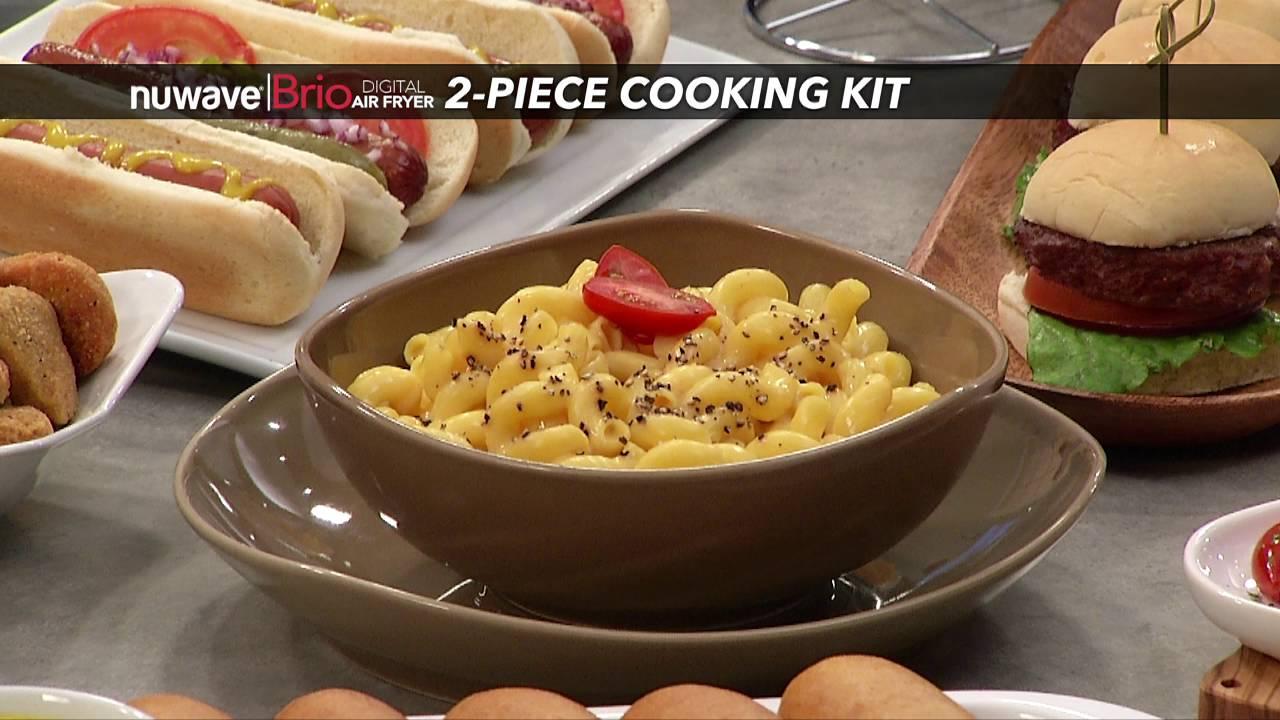 nuwave brio digital air fryer 2piece cooking kit
