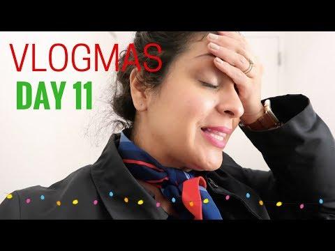 VLOGMAS DAY 11, 2017  |  Working International Trips  |  Flight Attendant Life