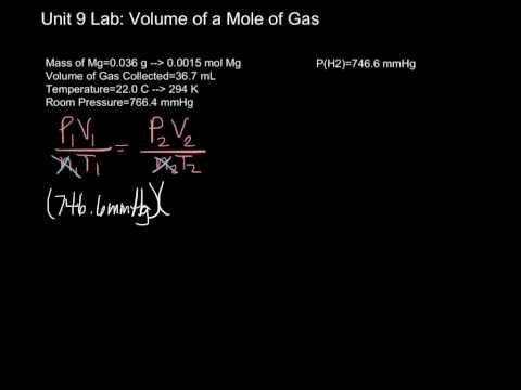 Unit 9 Lab-Volume of a Mole of Gas Calcs