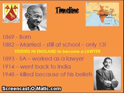 EPS Gr4 Revision History: Mahatma Gandhi Timeline - YouTube