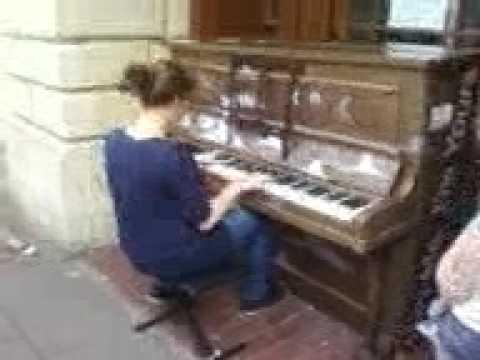 Kim plays Streetpiano.com Bury St Edmunds