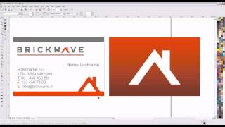 How to design a business card in CorelDRAW X4