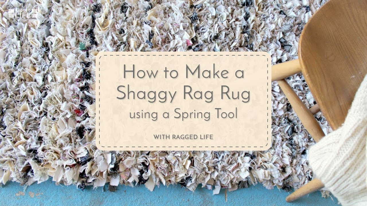 Diy No Sew Shaggy Rag Rug Using