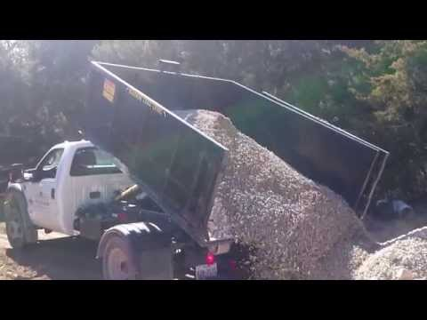 ADS 10 yard dumpster gravel dump