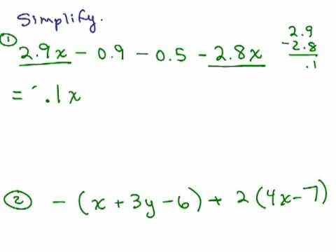 Simplifying Algebraic Expressions - YouTube