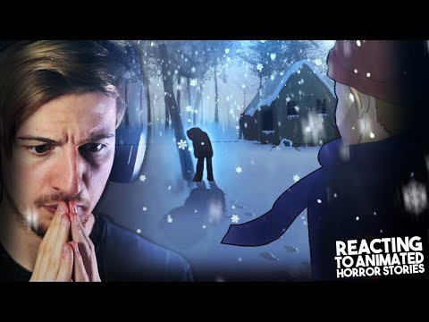 FOOTPRINTS IN THE SNOW? TURN BACK.    Reacting to Horror Story Animations