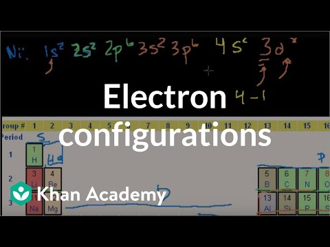 Electron configurations 2 | Electronic structure of atoms | Chemistry | Khan Academy
