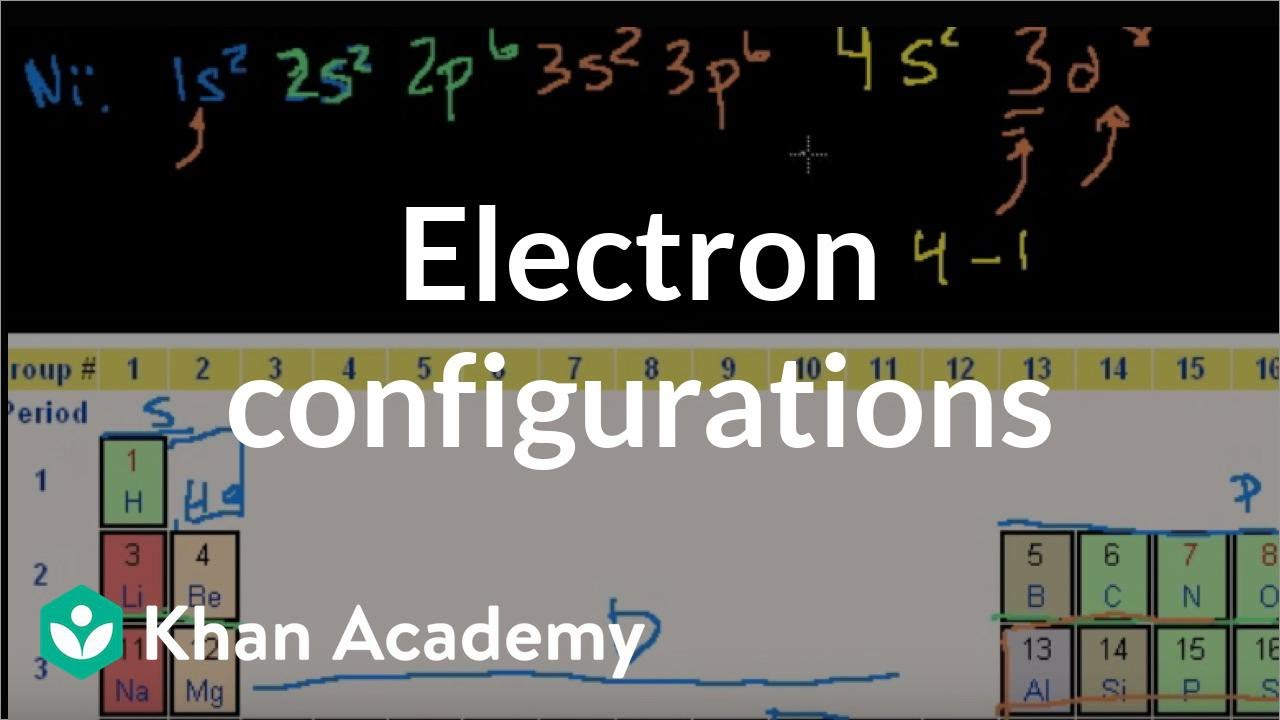 Electron configurations 2 electronic structure of atoms electron configurations 2 electronic structure of atoms chemistry khan academy youtube ccuart Image collections