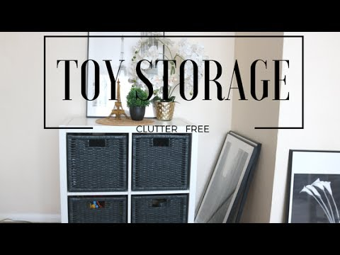 TOYS STORAGE (In Living Room)-Clutter-free with Kids!