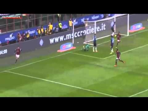 Kaká Goal Milan 1-0 Atalanta 06.01.2014 