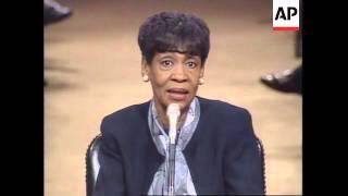 USA: WASHINGTON: SENATE DEBATE OVER BLACK AMERICAN DIALECT EBONICS