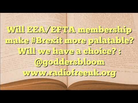 Will EEA/EFTA membership make #Brexit more palatable? Will we have a choice (11 of 36)