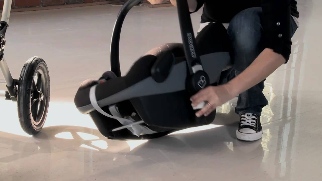 bugaboo cameleon demo - use with the car seat - YouTube