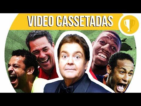Faustão narrando as vídeo cassetadas do futebol