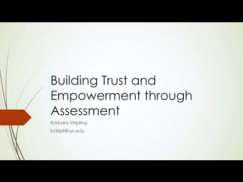 Building Trust and Student Empowerment Through Assessment