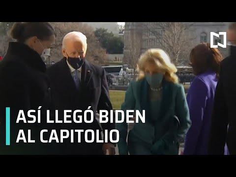 Joe Biden llega al Capitolio para toma de posesión como presidente de EEUU - Las Noticias