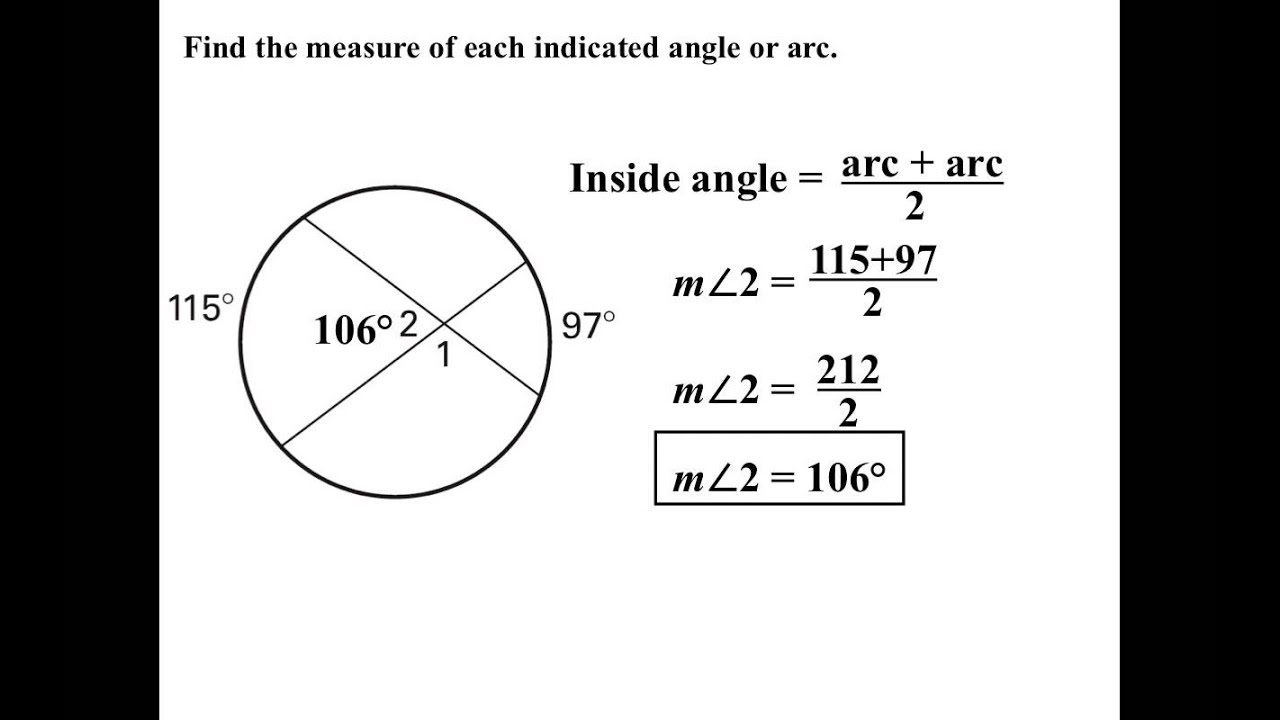 Interior exterior angles in circles youtube - How to find exterior and interior angles ...