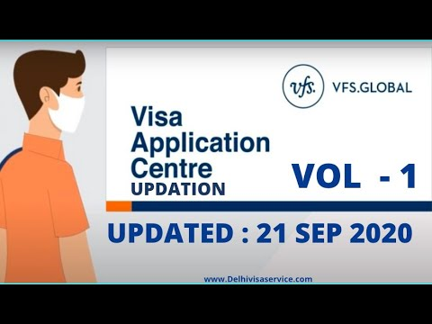 VFS Global India Latest Updates For 21-Sep-2020 PART -- 1 | News On VFS Opening For Visa Application