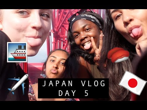 JAPAN VLOG #3 DAY 5 - TENNOJI ZOO, NAMBA RIVER CRUISE, FERRIS  WHEEL & SKYGARDEN