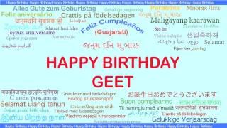 Geet   Languages Idiomas - Happy Birthday