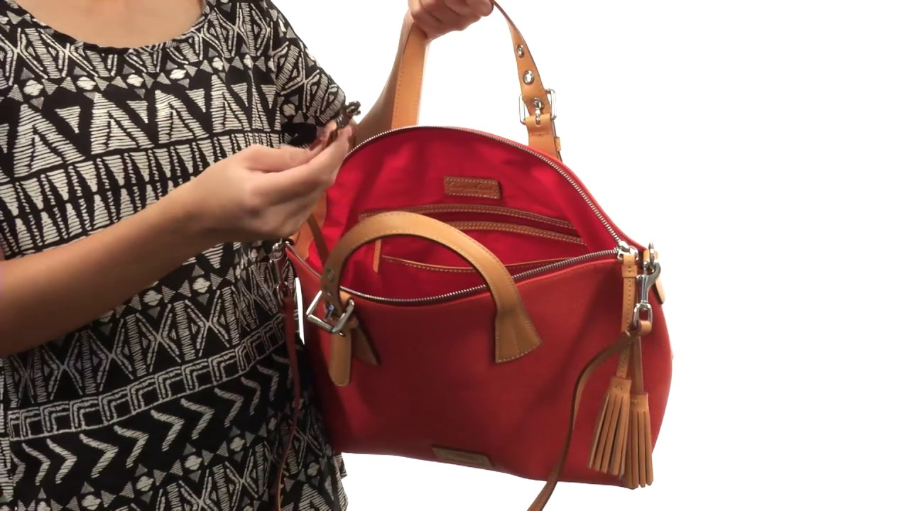 fae9f207186f Dooney   Bourke Patterson Large Trina Satchel SKU 8863906 - YouTube