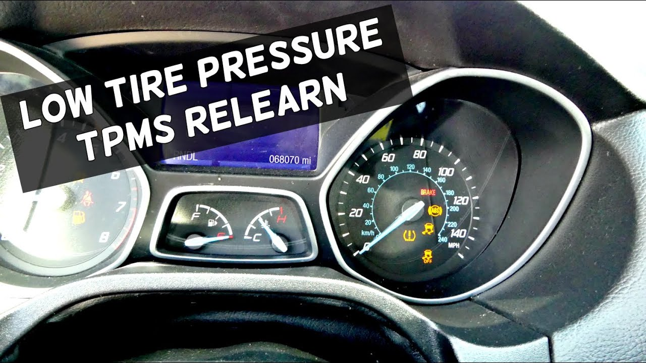 Ford Focus Low Tire Pressure Light How To Train Tpms On Focus Mk